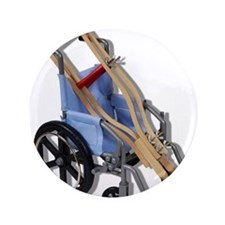 "Crutches Wheelchair 3.5"" Button (100 pack)"