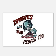 Zombies Were People Too Postcards (Package of 8)