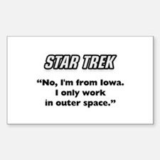 Capt. Kirk I'm from Iowa Decal