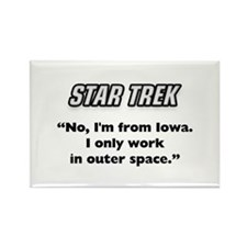Capt. Kirk I'm from Iowa Rectangle Magnet