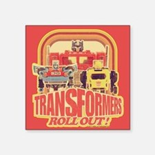 "Transformers Retro Roll Out Square Sticker 3"" x 3"""