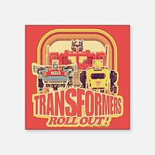 Transformers Retro Roll Out Square Sticker 3