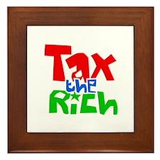 Tax the Rich Framed Tile