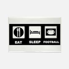 Eat Sleep Football Rectangle Magnet