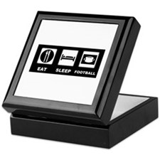 Eat Sleep Football Keepsake Box