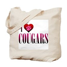 I Heart Cougars Tote Bag