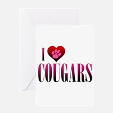 I Heart Cougars Greeting Card