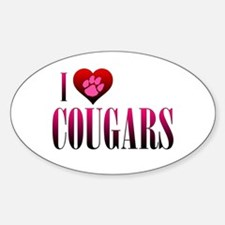I Heart Cougars Decal