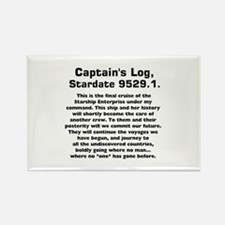 Capt.'s Log Stardate 9529.1. Rectangle Magnet
