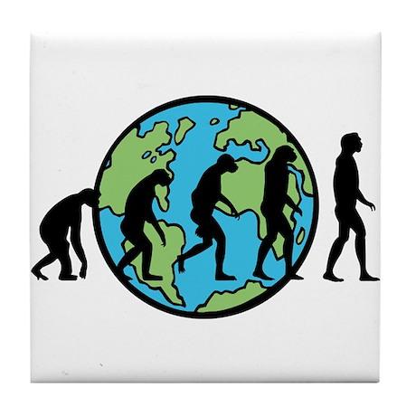 Earth Evolution Tile Coaster