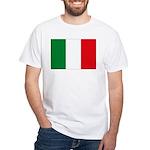 Italian Flag White T-Shirt