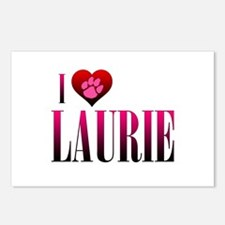 I Heart Laurie Postcards (Package of 8)