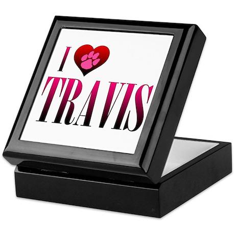 I Heart Travis Keepsake Box