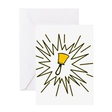 The Starburst Bell Greeting Card