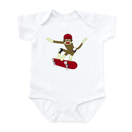 Sock Monkey Skateboarder Infant Bodysuit