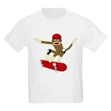 Sock Monkey Skateboarder T-Shirt