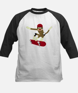 Sock Monkey Skateboarder Tee