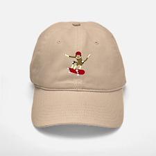 Sock Monkey Skateboarder Baseball Baseball Cap