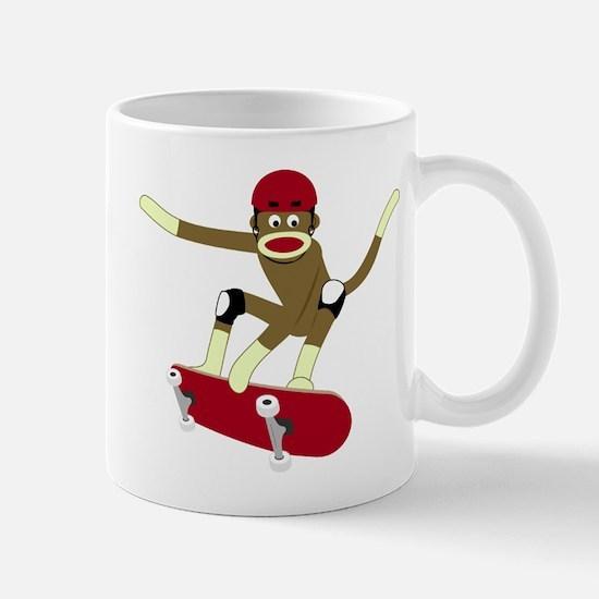 Sock Monkey Skateboarder Coffee Mug