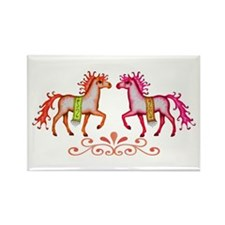 Prancing Ponies Rectangle Magnet