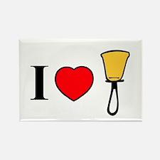 I Heart Bells Rectangle Magnet (10 pack)