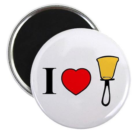 """I Heart Bells 2.25"""" Magnet (100 pack)"""
