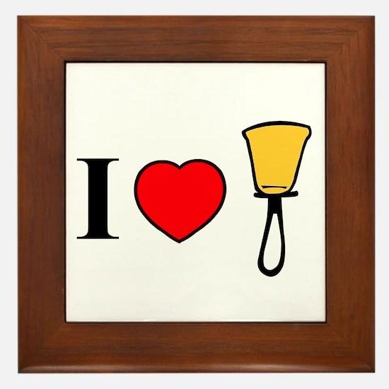 I Heart Bells Framed Tile