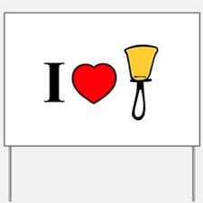 I Heart Bells Yard Sign