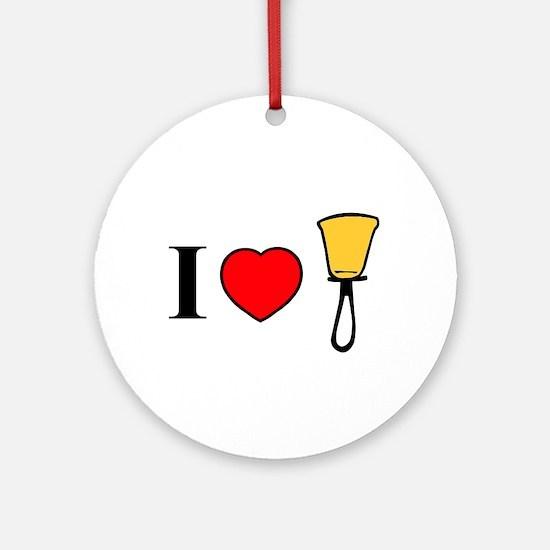 I Heart Bells Ornament (Round)