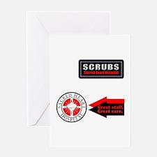 Scrubs Sacred Heart Greeting Card