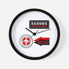 Scrubs Sacred Heart Wall Clock