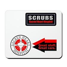 Scrubs Sacred Heart Mousepad