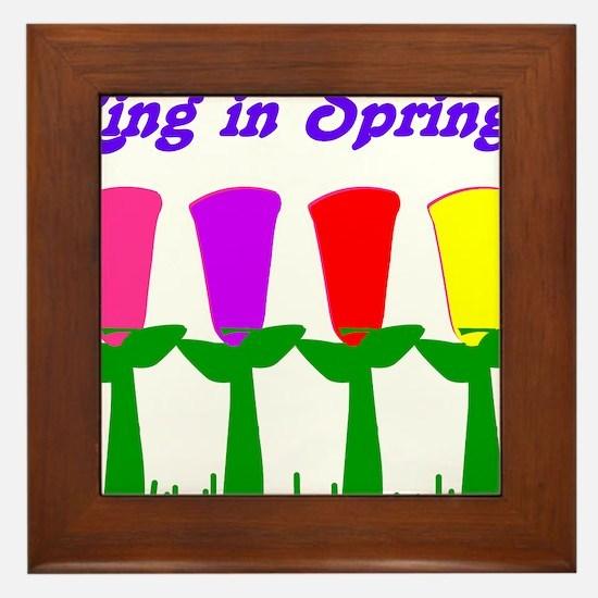 Ring in Spring Framed Tile