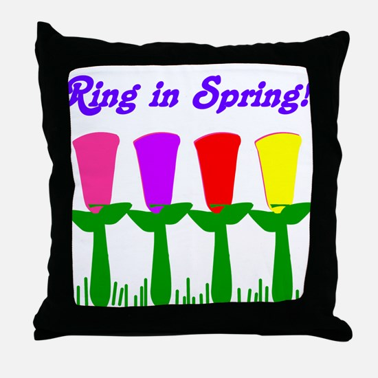 Ring in Spring Throw Pillow