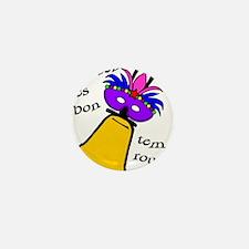 Mardi Gras Masked Bell Mini Button