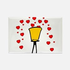 Heart Fountain Rectangle Magnet (10 pack)