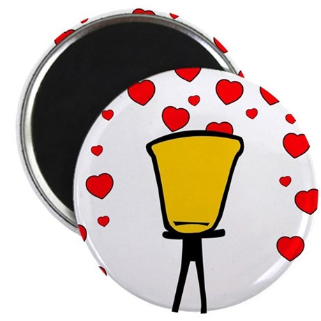 """Heart Fountain 2.25"""" Magnet (10 pack)"""