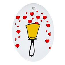 Heart Fountain Ornament (Oval)