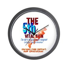 The 5th Vital Sign Wall Clock
