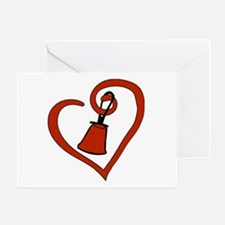 Cute Bell ringing Greeting Card