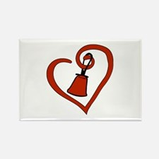 Cute Hand bell Rectangle Magnet (10 pack)