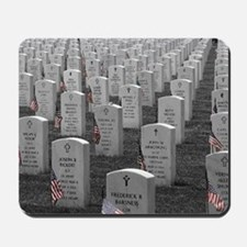 Arlington B&W Flags Mousepad