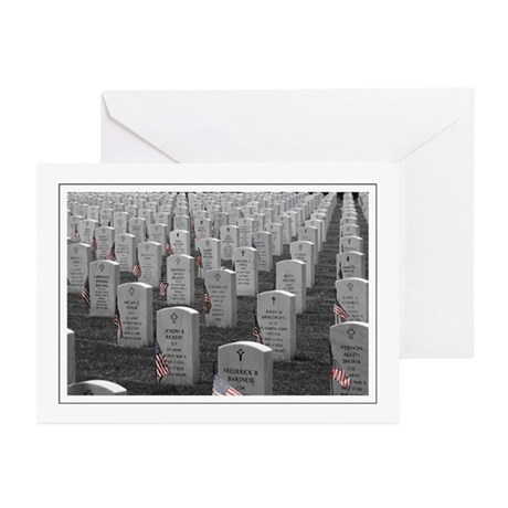 Arlington B&W Flags Greeting Cards (Pk of 10)