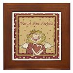 Moms Are Angels Framed Tile