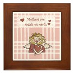 Mothers Are Angels On Earth Framed Tile