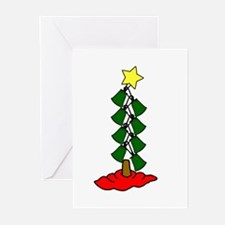 xmasbelltreefinal Greeting Cards