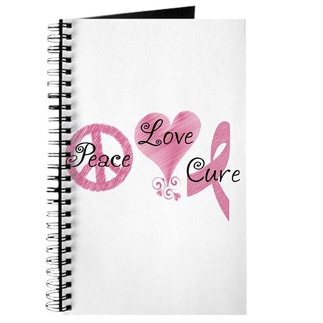 Peace Love Cure (Pink Ribbon) Journal