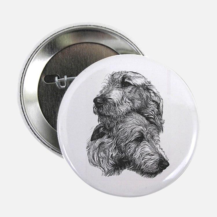 """Irish Wolfhound Pair 2.25"""" Button (10 Pack)"""