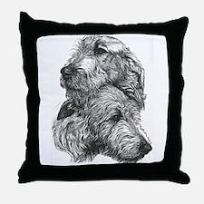 Irish Wolfhound Pair Throw Pillow