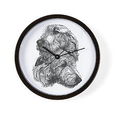 Irish Wolfhound Pair Wall Clock